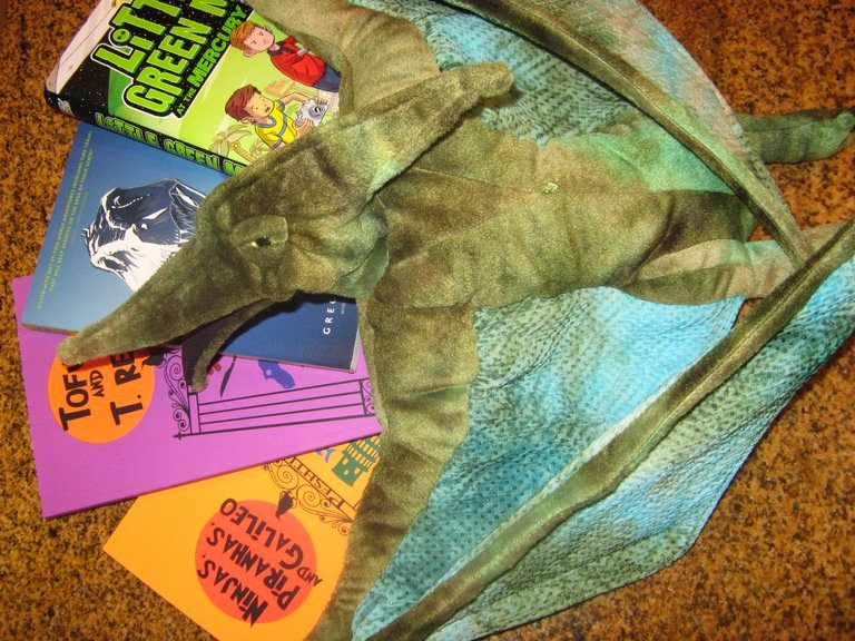 Giveaway: Four Middle Grade Novels by Greg Leitich Smith & Pterodactyl Puppet